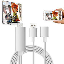 Phone HDMI cable adapter Plug/Play lightning to HD TV Apple iPhone/iPad Samsung