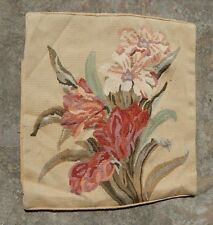 Antique French 19thC Hand Woven Aubusson Flowers Cushion 45X43cm (A1115)