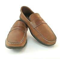 Capital by ROCKPORT Penny Moccasin Shoes Mens Brown Slip On Loafers US 8.5 M
