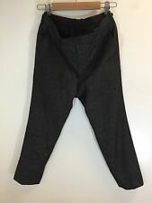 Lad Musician Gold Glitter Cropped Pants Size 44 XS