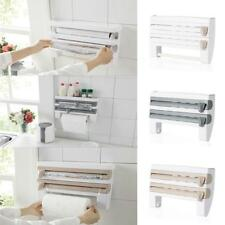 Kitchen Paper Dispenser Triple Cling Film Wrap Aluminium Foil Roll Towel Holder