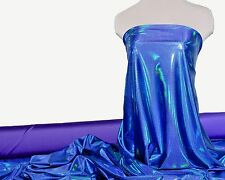 """MYSTIQUE REFLECTIVE HOLO FABRIC BLUEBERRY BULB  58""""  DANCE GYMNASTIC CHEER BOWS"""