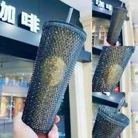 Starbucks Black Gold Diamond Studded Tumbler CUP 24oz China 2021 Valentine's New