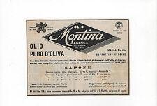 Pubblicità 1948 OLIO OLIVA SAPONE MONTINA ALBENGA advertising reklame werbung