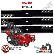 "Set of 3 Gator 96-310 Blades for 48"" Exmark Lazer Tracer Metro Viking"