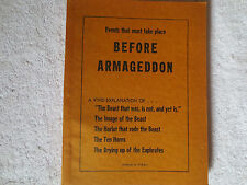 BEFORE ARMAGEDDON (second edition) pamphlet, Seventh-Day Adventist, (1953)