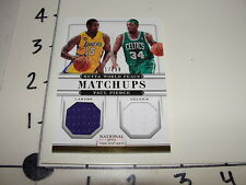 Metta World Peace/Paul Pierce 2012-13 NATIONAL TREASURES #86 Matchups Jerseys/99