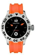 Nautica Men's N14603G BFD 100 Date Orange and Black Watch