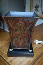 "Castilian Imports 13""x9.25"" Floral Metal Claw Feet Lion Handle Urn Pedestal Vase"
