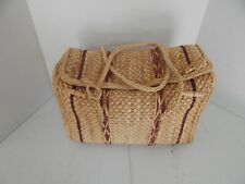 Knitting, Crochet or Sewing Soft Sided Wicker Travel Tote