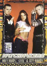 MATT HARDY, LITA, & JEFF HARDY  2002 Fleer WWF WWE MATCHMAKERS Insert Card #14MM