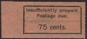 ZANZIBAR 1926 POSTAGE DUE TYPESET 75C