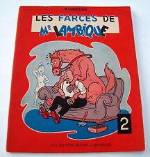 VANDERSTEEN LES FARCES DE MR LAMBIQUE EO 1955 TBE