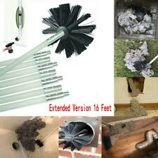 16 Feet Dryer Duct Cleaning Vent Venting Lint Trap Removal Brush Vacuum Kits USA