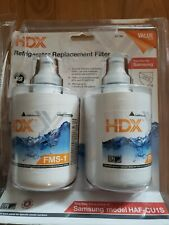 New 2 Pack Hdx Fms-1 Refrigerators Replacement Nsf Filters Fits Samsung Haf-Cu1S