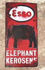 1940's VINTAGE ESSO - ELEPHANT KEROSENE PORCELAIN ENAMEL SIGN BOARD