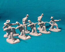 Civil War 54mm Confederate Lot 8 X Rebel Infantry 8 in 3 poses 4 Firing 1/32 ACW
