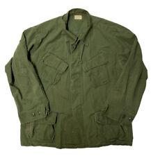 Vintage 1969 Vietnam Og-107 Tropical Poplin Shirt Jacket Slant Pocket Mens Large