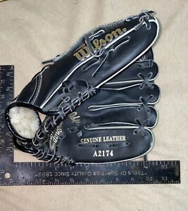 Wilson A2174 youth  Right Hand Thrower Baseball glove black Kevin McReynolds
