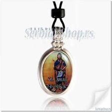 Necklace Saint John Ogrlica Sveti Jovan Medallion  Serbian Srbija  Orthodox
