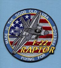 LOCKHEED MARTIN F-22 RAPTOR USAF Fighter Squadron Jacket Patch