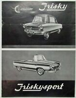 1958 Meadows Frisky & Sport Sales Brochure - British Market