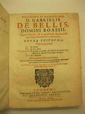 DE BELLIS DE ROYAS Gabriel, De feudis, De iure sacro, De delictis...
