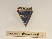VINTAGE TAROM ROMANIAN PIN ENAMEL BADGE AIRLINE AIRCRAFT AIRPORT AERO JET