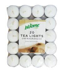 20pk Tea Lights White Unscented Unfragranced Candles 3.5 Hours Burning T-Lights