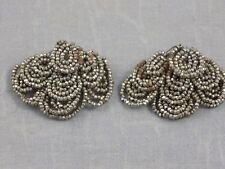 Antique Victorian Edwardian Sparkly Cut Steel Layered Shoe Clips Buckles