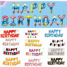 Self Inflating Happy Birthday Balloons Foil Letter Banner Bunting Party Baloon