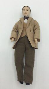 Dolls House Man In Beige Jacket - 14.75 cm