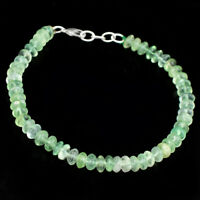 """Details about  /290.00 Cts Earth Mined 7/"""" Long Green Emerald Round Shape Beads Bracelet NK 55E99"""