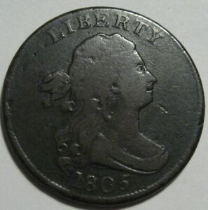 = 1805 FINE Half Cent, Nice EYE Appeal, FREE Shipping