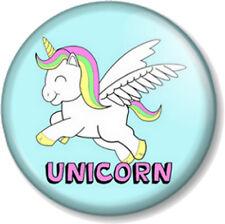 """UNICORN 1"""" 25mm Pin Button Badge Cute Rainbow My Little Pony Mythical Fairytale"""