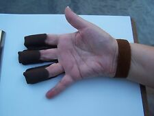 "Trad.Leather Archery open end-Open palm Glove-BRN-$7.99 Delivered-Mens ""Medium"""