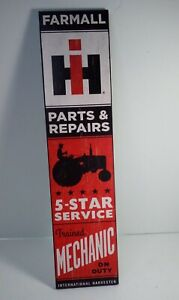 IH FARMALL TRACTOR Parts & Repair Mechanic Sign Plaque Farm Man Cave Red New
