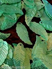 Sequins Leaf Leaves 28mm Soft Mint Green Rainbow AB Read Description