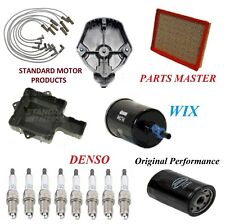 Tune Up Kit Filters Cap Rotor Wire Plugs For CADILLAC SEVILLE V8 4.9L 1991-1992