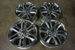 """22"""" Ford F150 Polished Factory OEM Wheels Rims Expedition 3918 Reconditioned"""