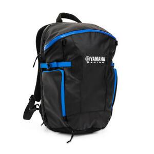 Official Yamaha Racing Black & Blue 'Zagreb' Bag Backpack with Helmet Holder