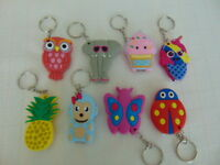 new Soft rubber fun character COVER Stainless Steel Nail Clipper Key ring D17