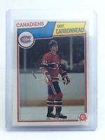 1983-1984 Guy Carbonneau #185 Montreal Canadiens OPC O-Pee-Chee Hockey Card H691