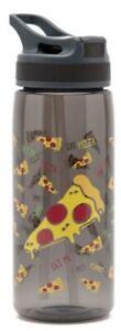 YOLO Pizza Kids Drinking Bottle Water Milk Juice Straw Cup School Gym Sports