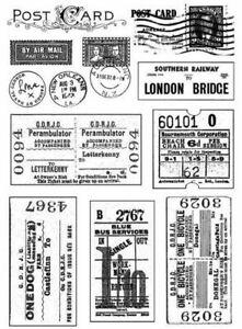 Vintage Tickets Postmarks Clear Silicone Stamp Seal DIY Scrapbook Album Decor