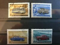 RUSSIA 1960 Transport 4 stamp set used
