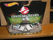 Hot Wheels 2016 Classic Ghostbusters Ecto-1 & Ecto-1A 2 Pack with Real Riders