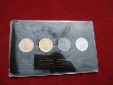 San Marino Prestige Metall Set 4 x 2 € Euro von 2013 Gold Ruthenium Platin 9999