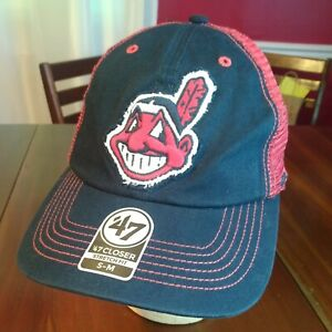 '47 Brand Cleveland INDIANS Men's Baseball Hat MLB s/m Banned Logo new w/ tag