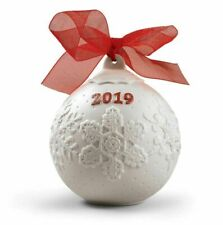 Lladro 2019 Christmas ball ornament - red - new in box